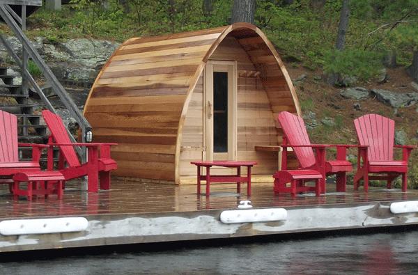 Cedar Pod Sauna 244 x 183cm