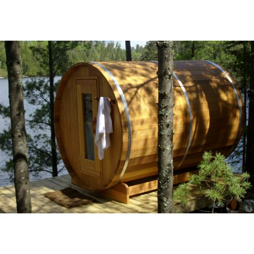 All Inclusive Red Cedar Barrel Sauna Package