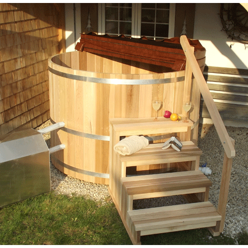 Round Cedar Hot Tub 183cm x 122cm