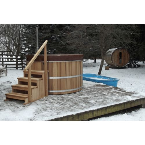 Round Cedar Hot Tub 153cm x 92cm