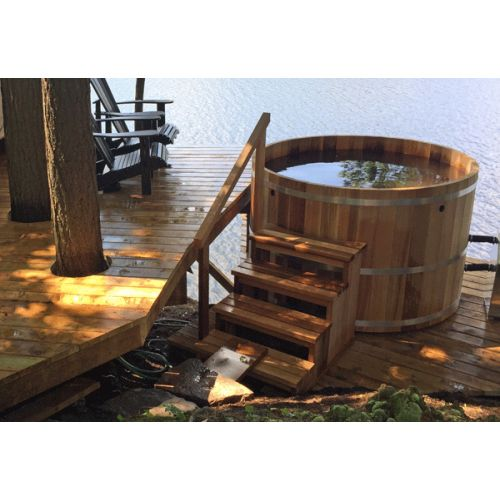 Round Cedar Hot Tub 214cm x 122cm
