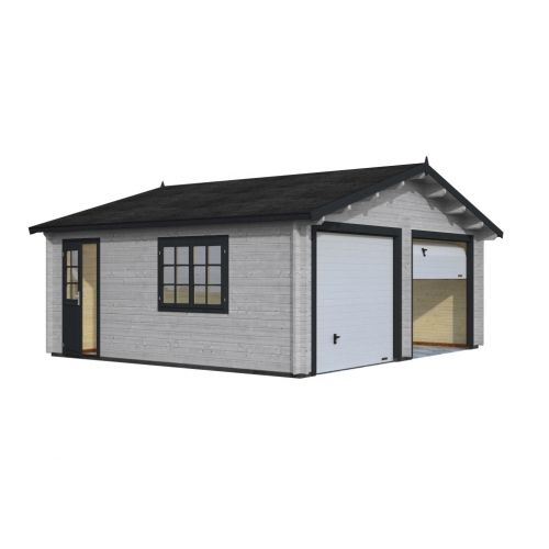 Colorado 3 - With Up & Over Door 44mm Wooden Garage