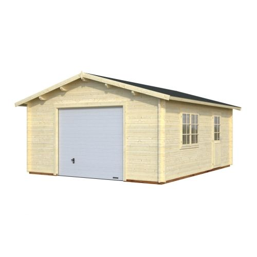 Houston 3 - With Up & Over Door 44mm Wooden Garage