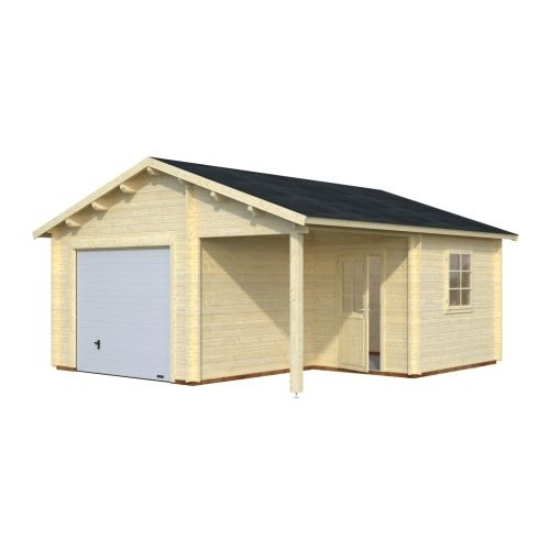 Indiana 3 - With Up & Over Door 44mm Wooden Garage