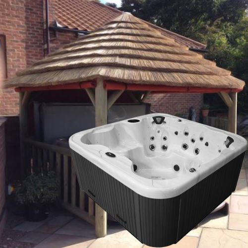 4.2m Thatch Gazebo + Regency King Hot Tub Package