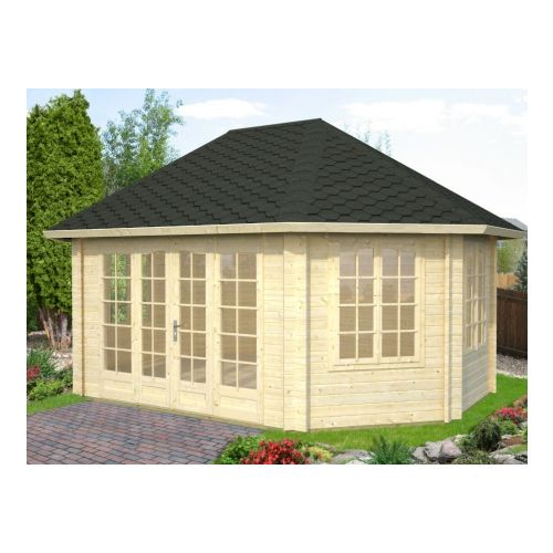 New York 44mm Log Cabin Summerhouse