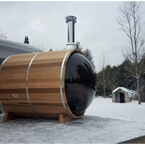 Panoramic Barrel Sauna 188 x 244cm