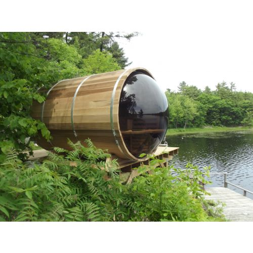 Panoramic Barrel Sauna 188 x 213cm