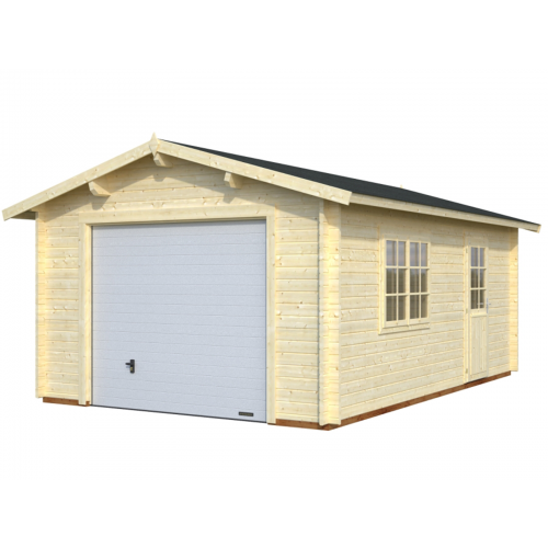 Wisconsin 3 - With Up & Over Door 44mm Wooden Garage