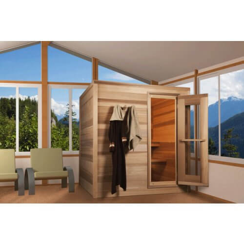 Indoor Cedar Sauna Cabin 91 x 183cm