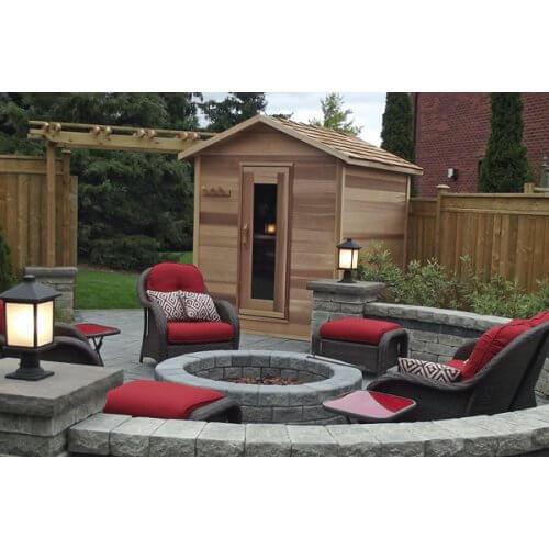 Outdoor Cedar Sauna Cabin 183 x 123cm