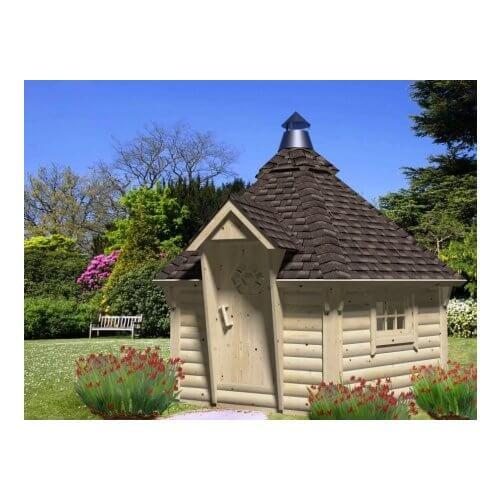 Staten Island Pizza Hut 44mm Log Cottage