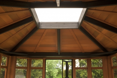 Hot Tub Gazebo with Skylight