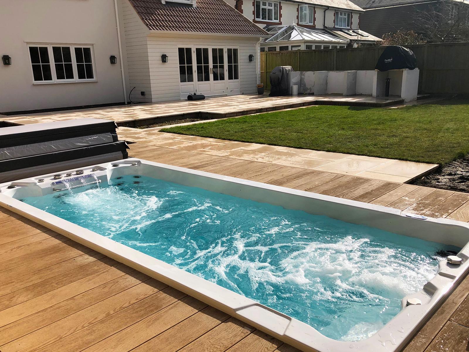 BHT 2000 Pro Swim Spa in Decking