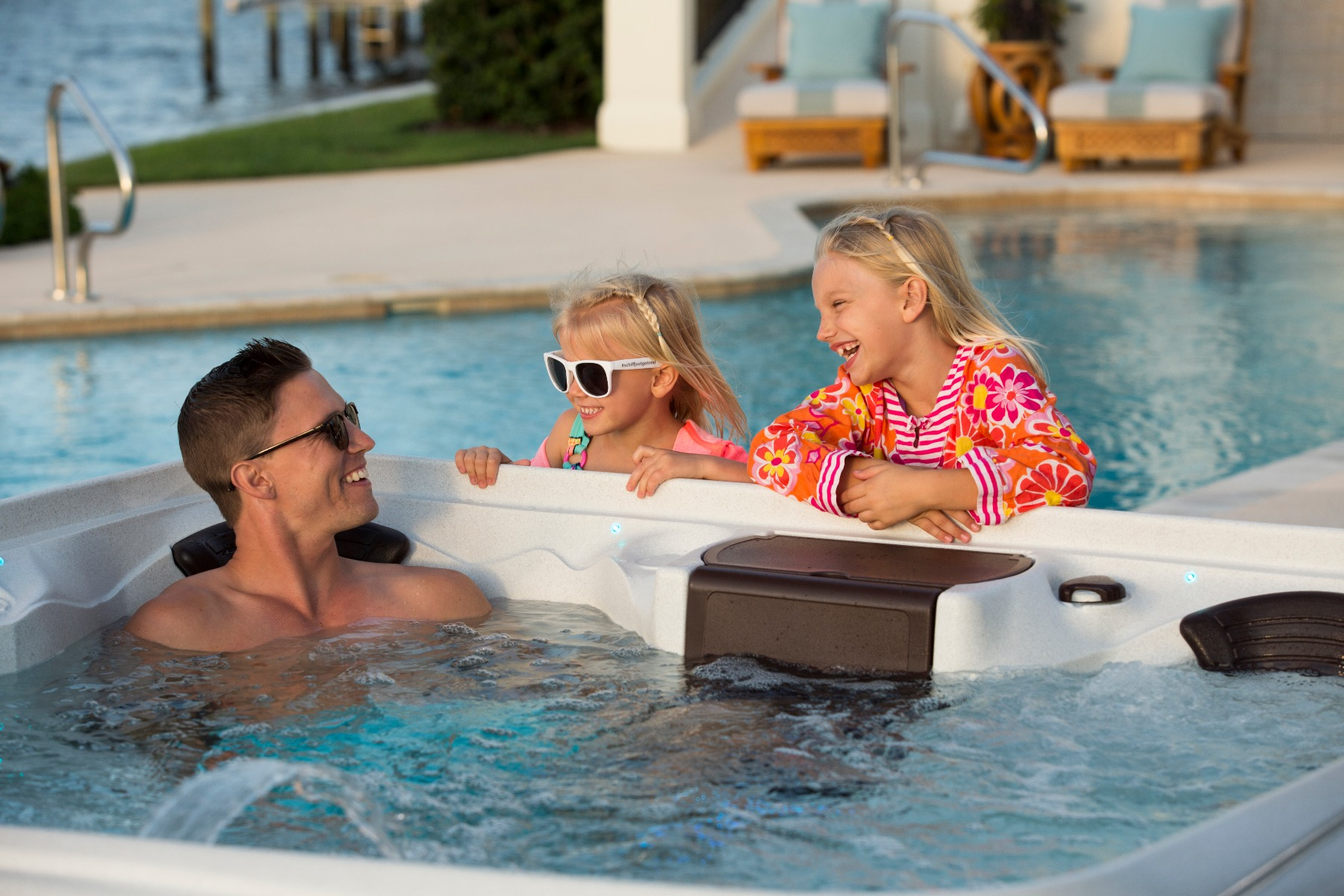 The Award Suite Spa is great for family time.