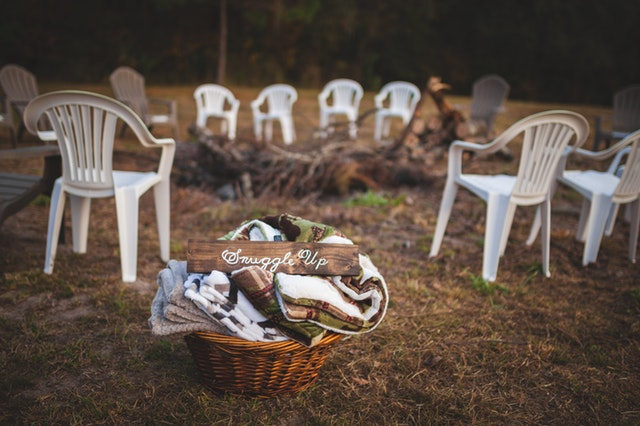 Blankets will keep everyone warm throughout a garden party