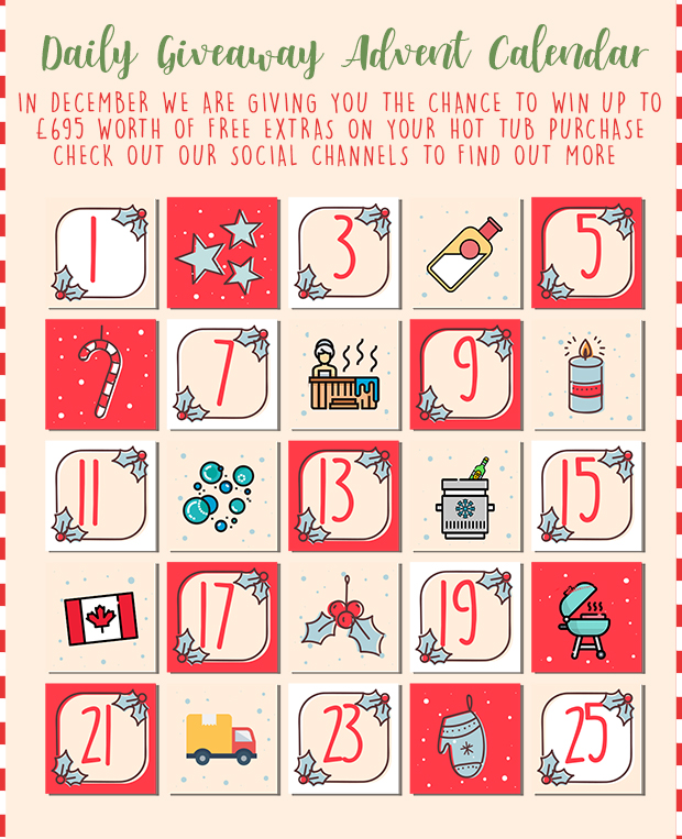 Social Media Hot Tub Giveaway Advent Calendar
