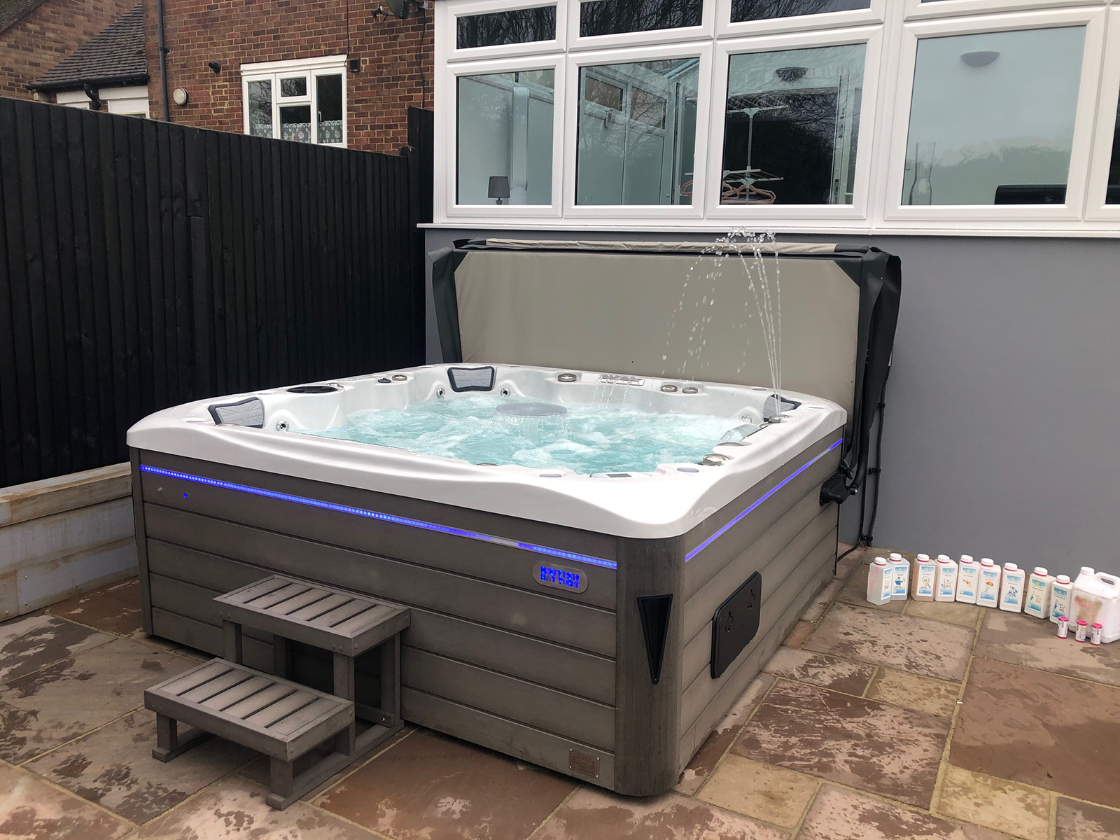 empire hot tub installation