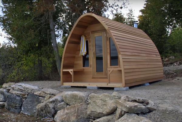 Cedar pod Sauna