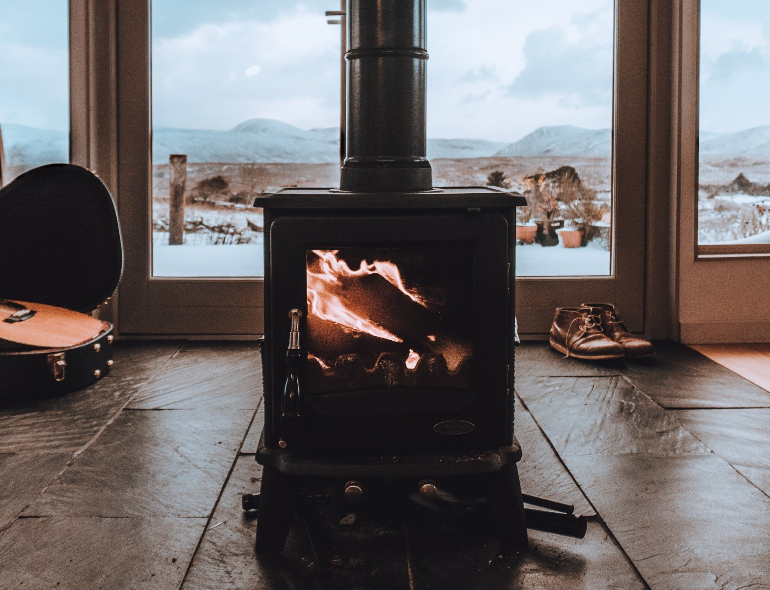 Log Burners are a stylish way to heat your cabin through the winter