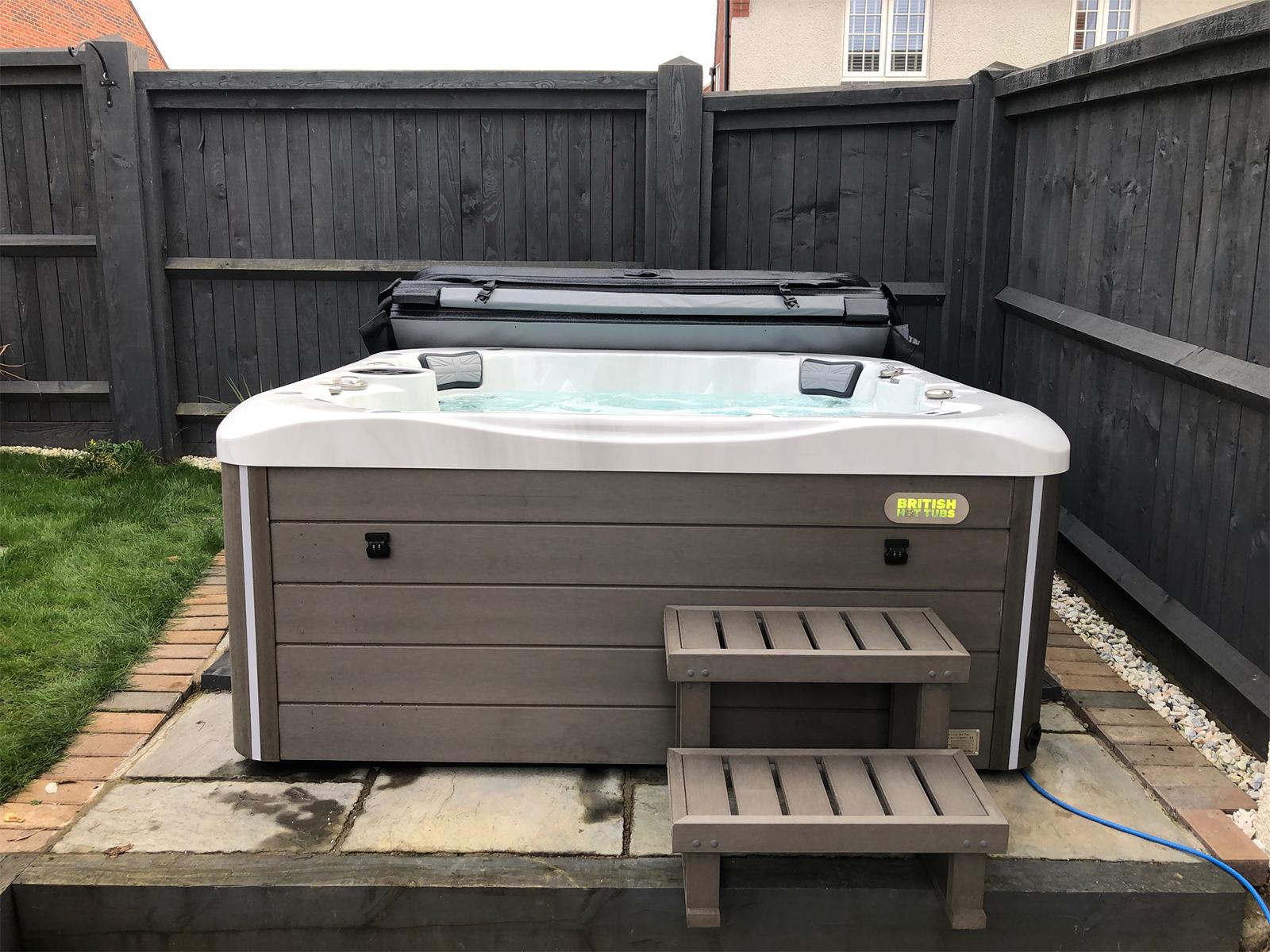 shakespeare hot tub installation