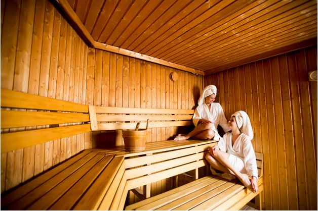 Socialising in a Traditional Sauna