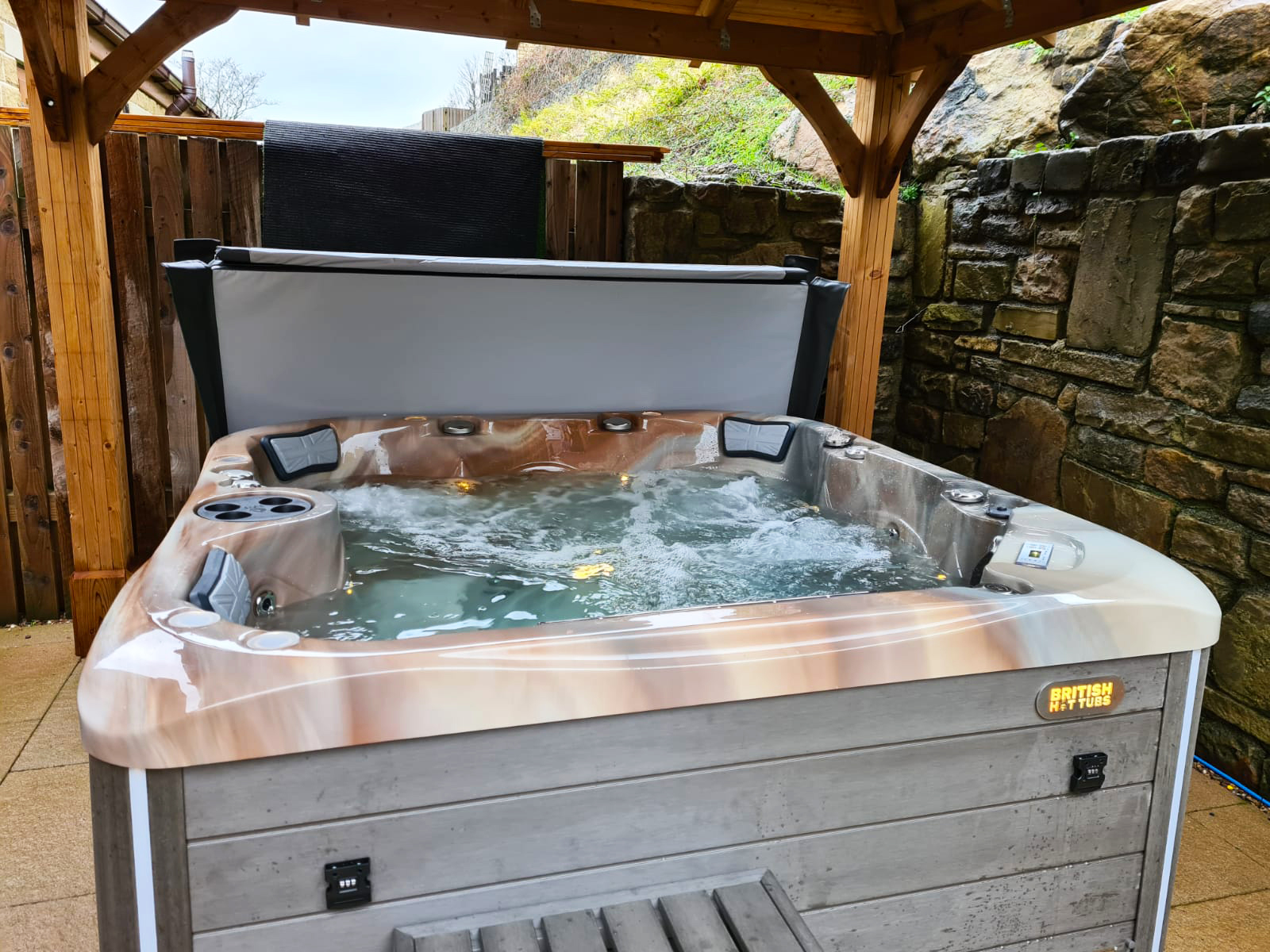 spencer hot tub installation
