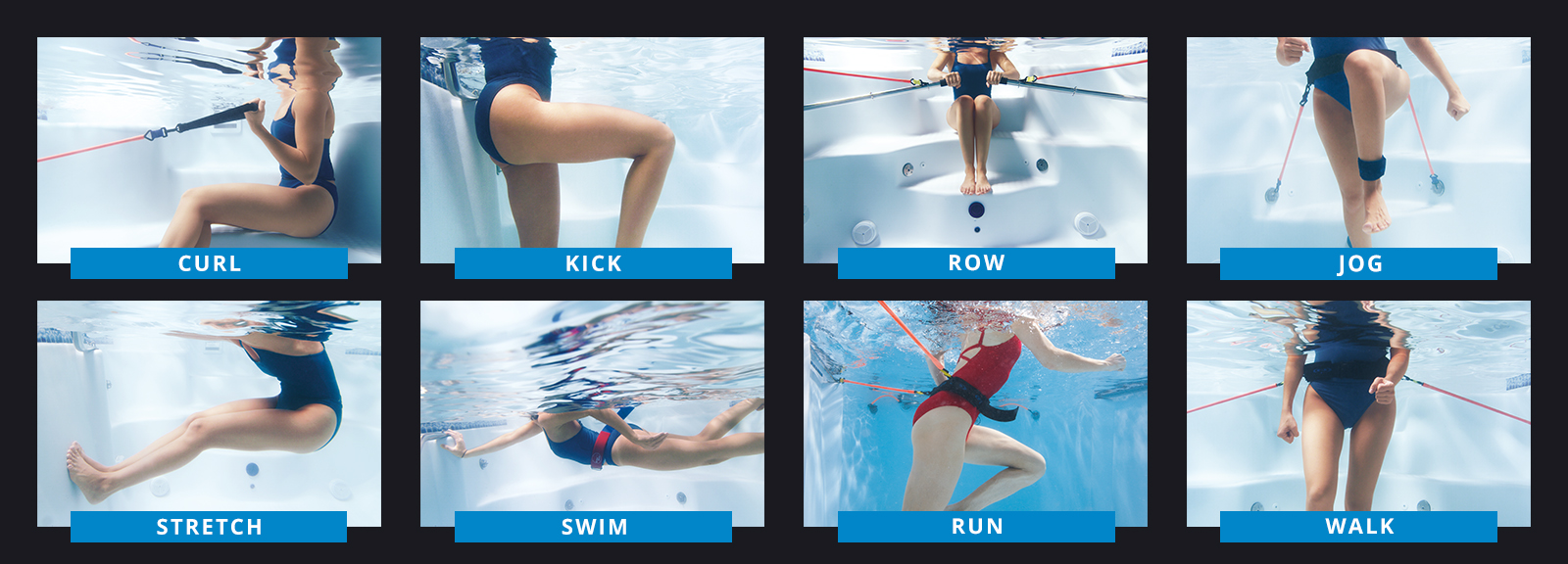 swim spa exercises with exercise equipment