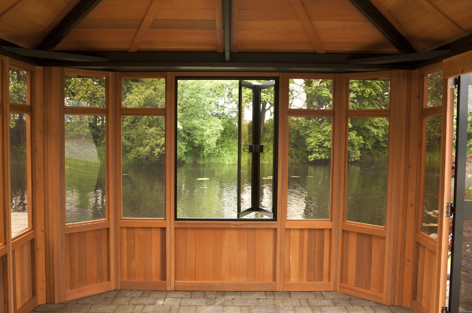 Cedar Gazebo with Windows