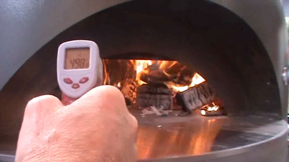 Check the oven is up to temperature with a laser thermometer