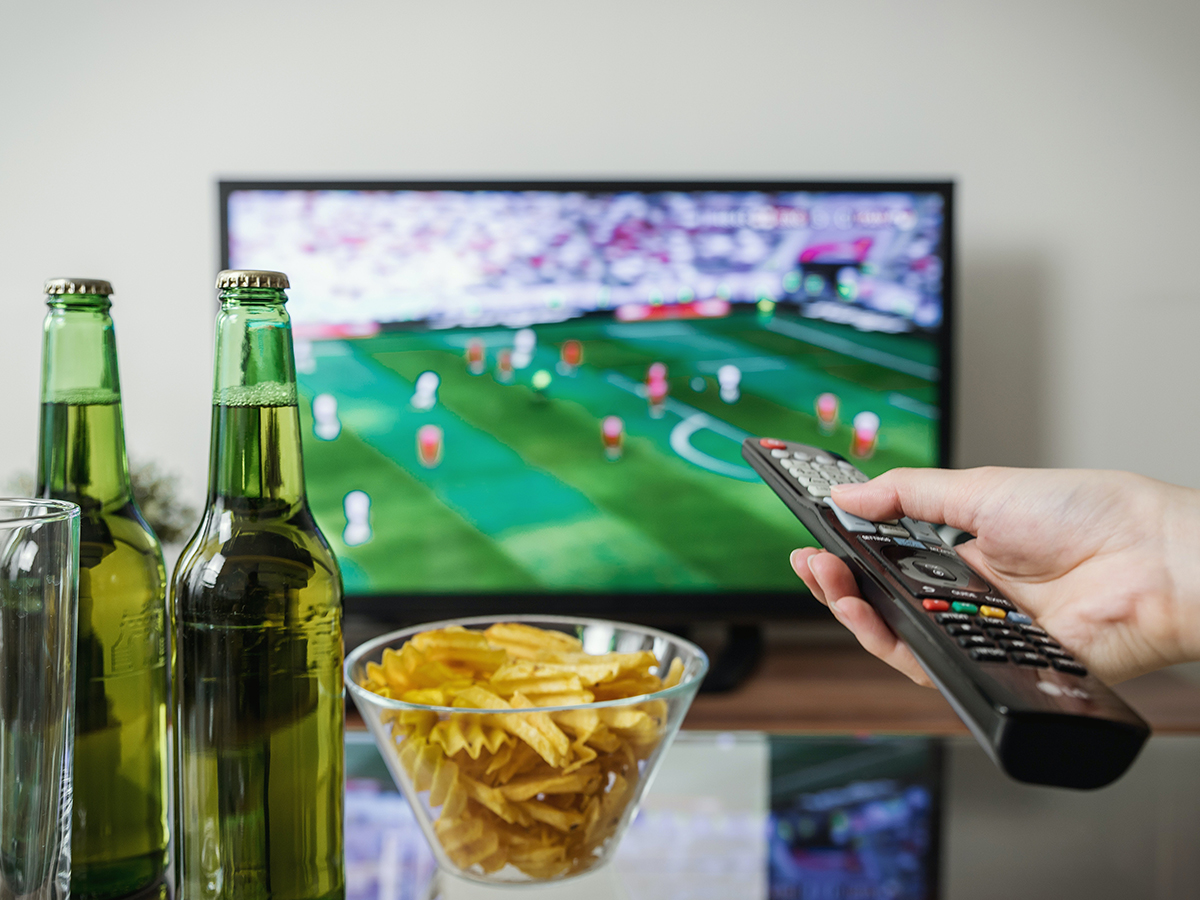 Television showing football