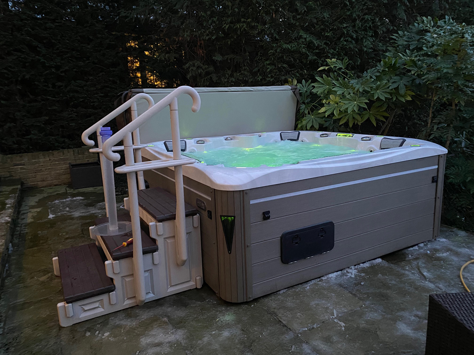 union hot tub installation