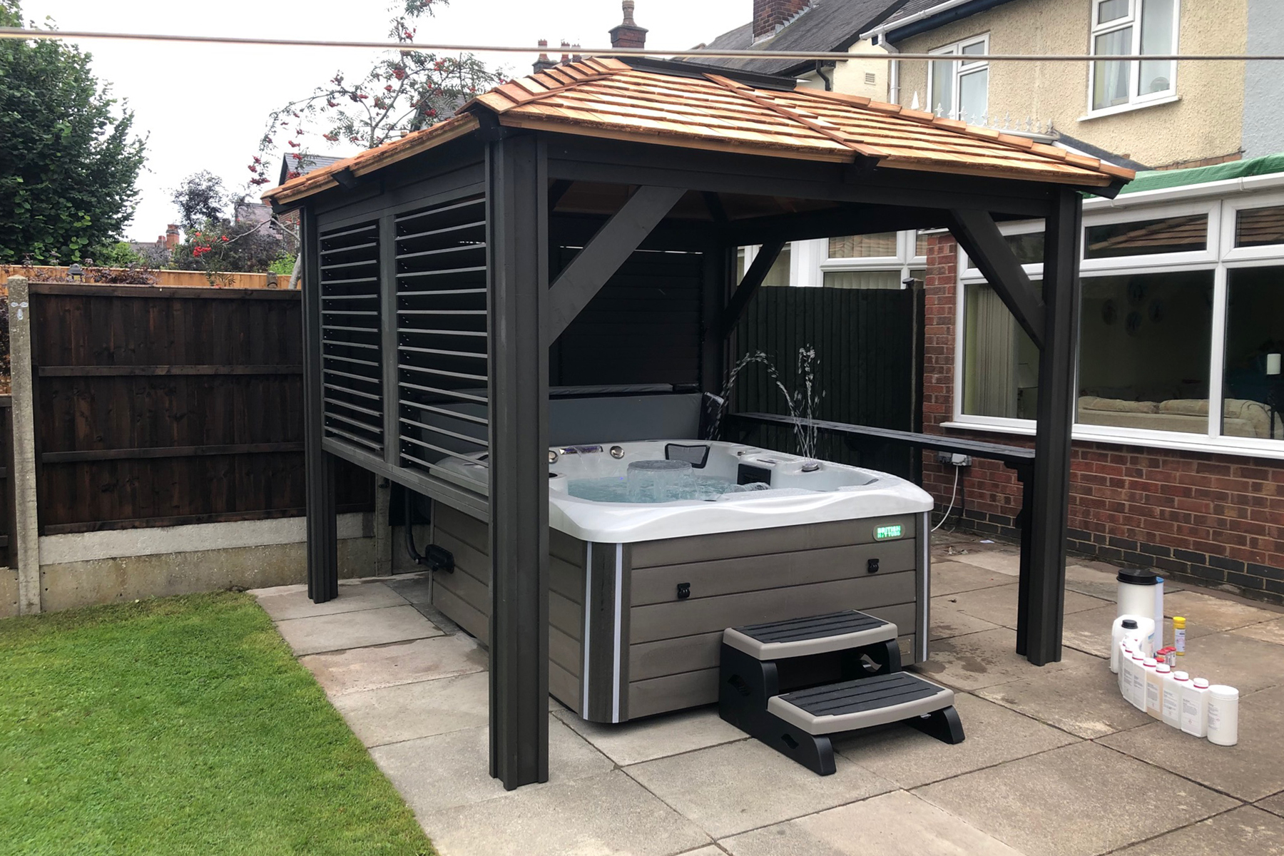 westwood hot tub and mount alta gazebo installation