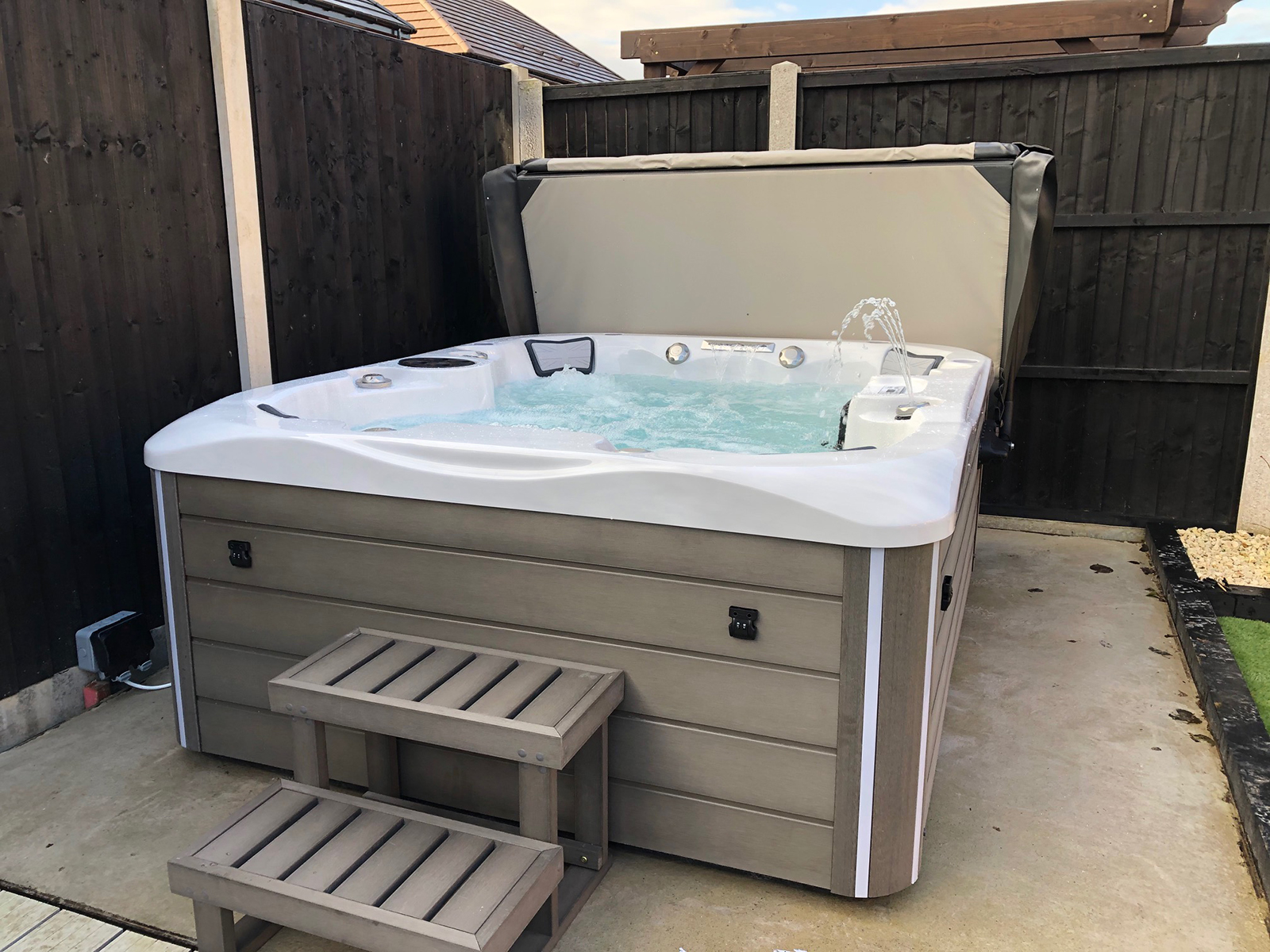 westwood hot tub installation