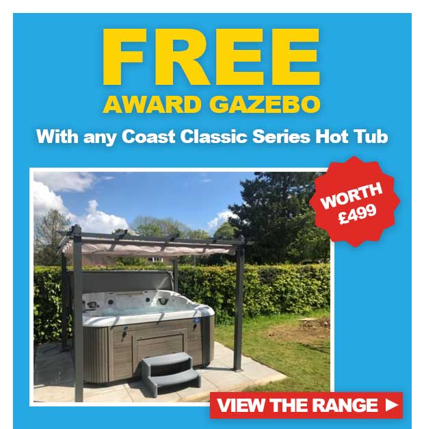 FREE Gazebo with any Coast Spas Classic Series Hot Tub