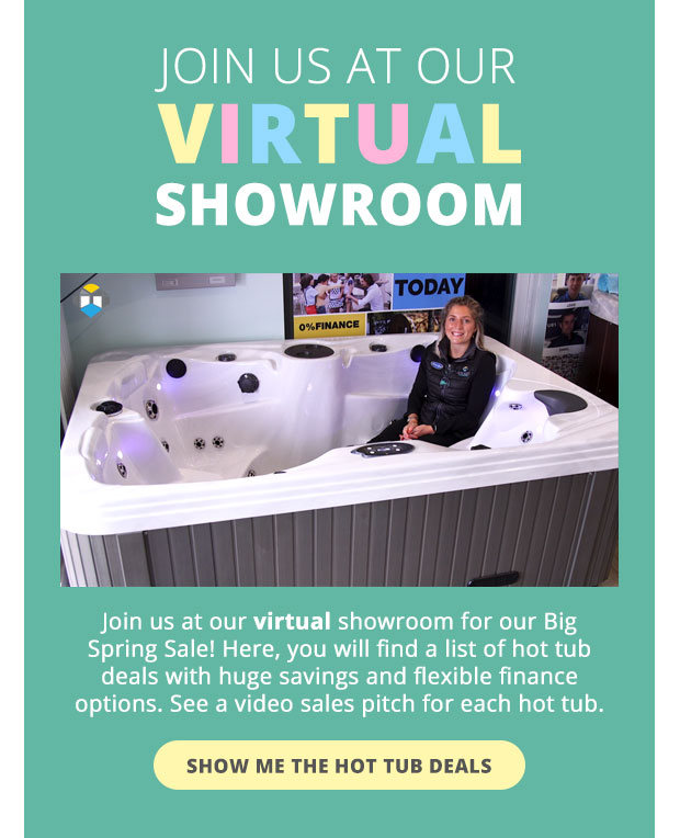 Virtual Hot Tub Showroom with In Stock Hot Tub Sale Offers
