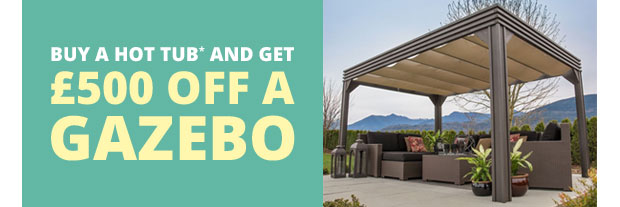 Save £500 on Visscher Gazebo When You Buy A Hot Tub